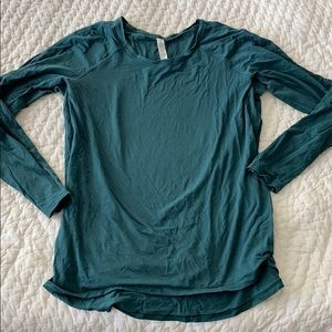 Lululemon dark green long sleeve